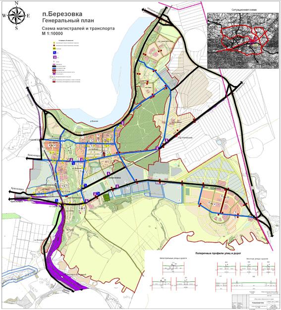 Схема магистралей и транспорта